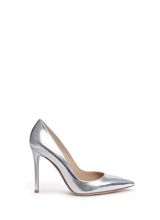Main View - Click To Enlarge - Gianvito Rossi - Metallic leather pumps