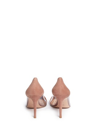 Back View - Click To Enlarge - Gianvito Rossi - 'Plexi' clear PVC suede pumps