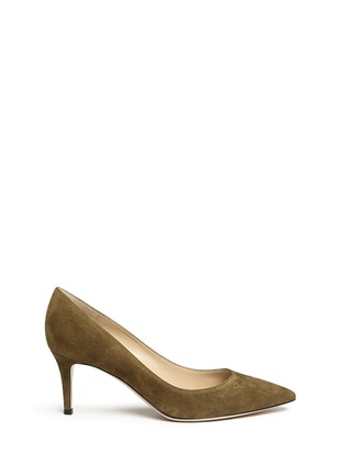 Main View - Click To Enlarge - Gianvito Rossi - 'Gianvito 70' suede pumps