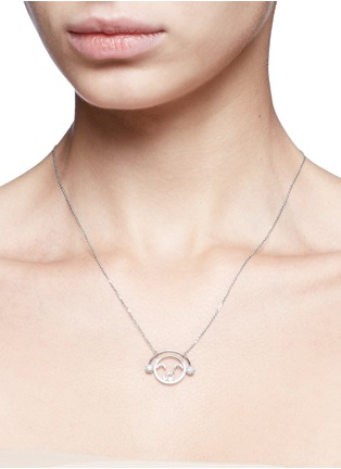 Detail View - Click To Enlarge - Ruifier - 'DJ' diamond 18k white gold pendant necklace