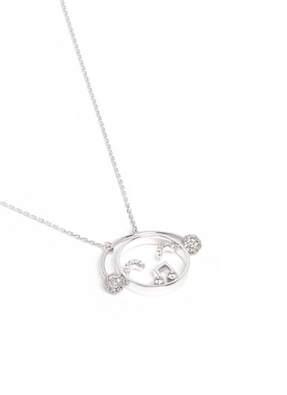 Figure View - Click To Enlarge - Ruifier - 'DJ' diamond 18k white gold pendant necklace