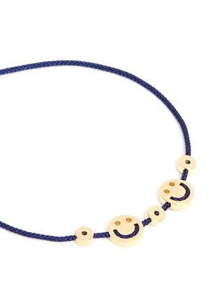 Detail View - Click To Enlarge - Ruifier - 'Happy² Hearts' 18k yellow gold charm cord bracelet