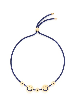 Main View - Click To Enlarge - Ruifier - 'Happy² Hearts' 18k yellow gold charm cord bracelet