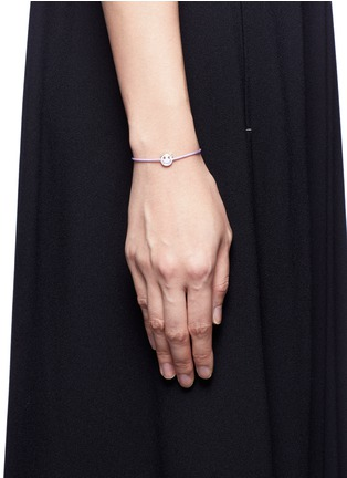 Figure View - Click To Enlarge - Ruifier - 'Wicked' sterling silver charm cord bracelet