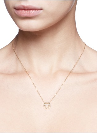Detail View - Click To Enlarge - RUIFIER - 'Ciro' diamond 9k yellow gold pendant necklace