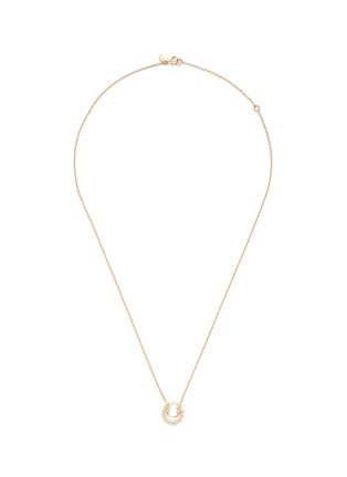 Main View - Click To Enlarge - RUIFIER - 'Ciro' diamond 9k yellow gold pendant necklace