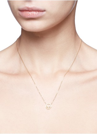 Detail View - Click To Enlarge - RUIFIER - 'Joy' diamond 9k yellow gold pendant necklace