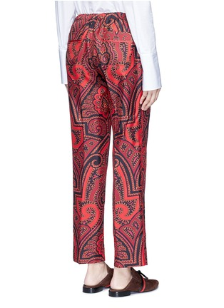 Back View - Click To Enlarge - F.R.S FOR RESTLESS SLEEPERS - 'Zeus' paisley print silk pyjama pants