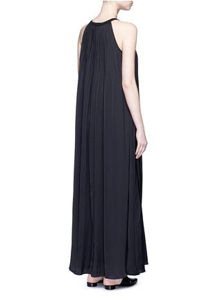 Back View - Click To Enlarge - Vince - Washed satin sunburst pleat maxi dress