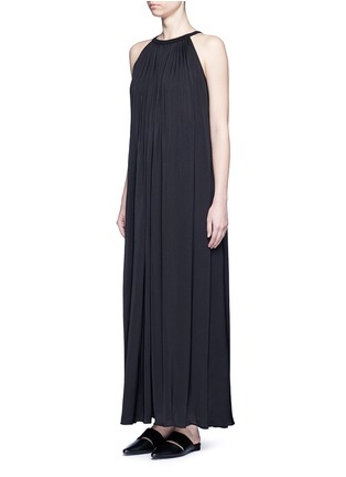 Figure View - Click To Enlarge - Vince - Washed satin sunburst pleat maxi dress