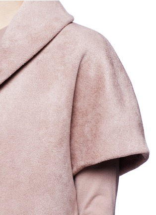Detail View - Click To Enlarge - AZZEDINE ALAÏA - Velour knit cape jacket