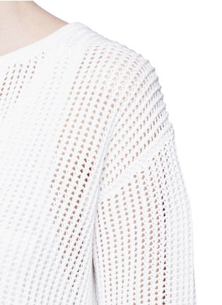 Detail View - Click To Enlarge - Theory - 'Limtally B' drawstring V-neck open knit top