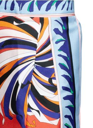 Detail View - Click To Enlarge - Emilio Pucci - Cactus flower print silk pyjama pants