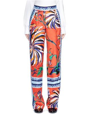 Main View - Click To Enlarge - Emilio Pucci - Cactus flower print silk pyjama pants