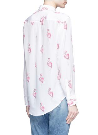 Back View - Click To Enlarge - Equipment - 'Signature' flamingo print silk shirt