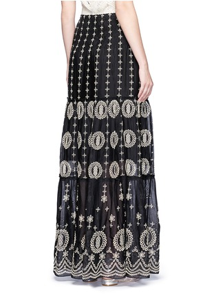 Back View - Click To Enlarge - alice + olivia - 'Lysa' eyelet embroidered convertible maxi skirt