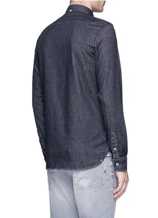 Back View - Click To Enlarge - Denham - 'Rhys' denim shirt