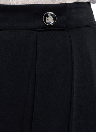 Detail View - Click To Enlarge - Lanvin - Satin crepe wide leg pants