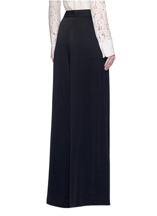 Back View - Click To Enlarge - Lanvin - Satin crepe wide leg pants
