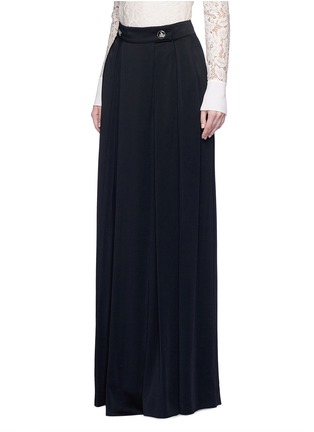 Front View - Click To Enlarge - Lanvin - Satin crepe wide leg pants