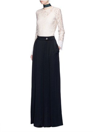 Figure View - Click To Enlarge - Lanvin - Satin crepe wide leg pants