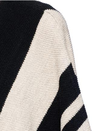 Detail View - Click To Enlarge - alice + olivia - 'Minka' oversize stripe wool poncho