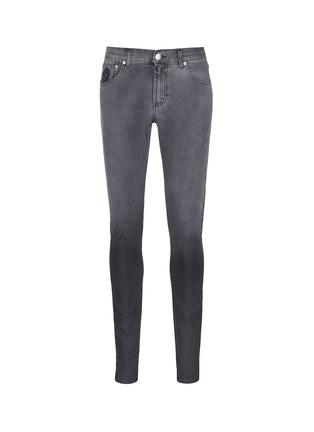 Main View - Click To Enlarge - Alexander McQueen - Slim fit dégradé stretch denim jeans