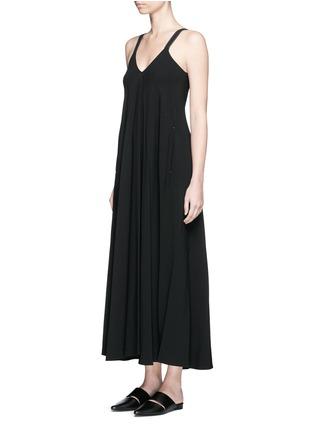 Front View - Click To Enlarge - HELMUT LANG - V-neck crepe maxi dress