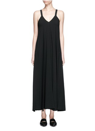 Main View - Click To Enlarge - Helmut Lang - V-neck crepe maxi dress