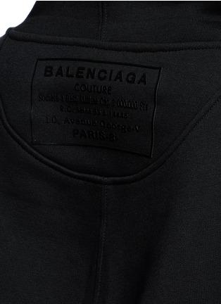 Detail View - Click To Enlarge - Balenciaga - Logo stamp cotton blend hoodie