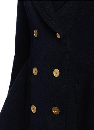 Detail View - Click To Enlarge - Alexander McQueen - Wool-cashmere blend knit peplum jacket