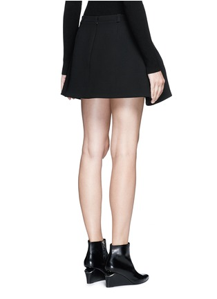 Back View - Click To Enlarge - Balenciaga - Inverted pleat bonded crepe mini skirt