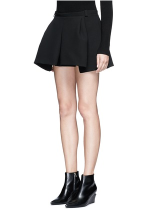 Front View - Click To Enlarge - Balenciaga - Inverted pleat bonded crepe mini skirt