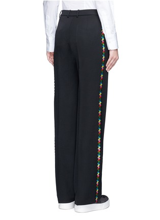 Back View - Click To Enlarge - Ports 1961 - Geometric ribbon embroidery virgin wool pants