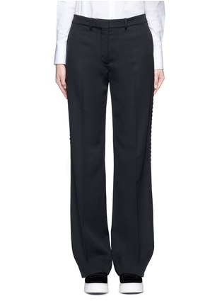 Main View - Click To Enlarge - Ports 1961 - Geometric ribbon embroidery virgin wool pants