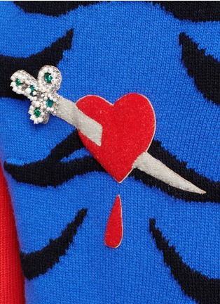 Detail View - Click To Enlarge - Gucci - Tiger intarsia wool sweater