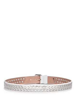 Back View - Click To Enlarge - AZZEDINE ALAÏA - Inset eyelet leather belt