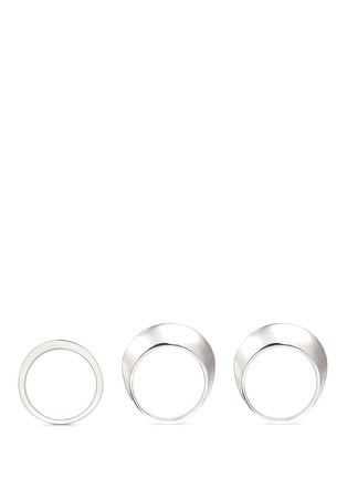 Figure View - Click To Enlarge - Sophie Buhai - 'Disc and Dimple' sterling silver three ring set