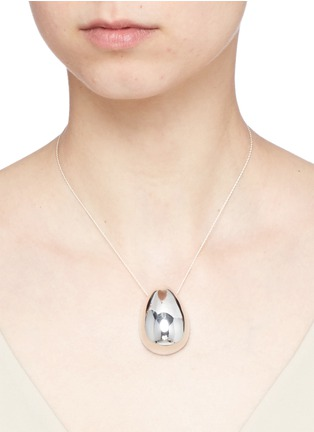 Figure View - Click To Enlarge - Sophie Buhai - 'Egg' pendant sterling silver necklace