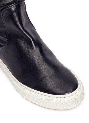 Detail View - Click To Enlarge - EUGÈNE RICONNEAUS - 'E-high' stripe leather thigh high sneaker boots