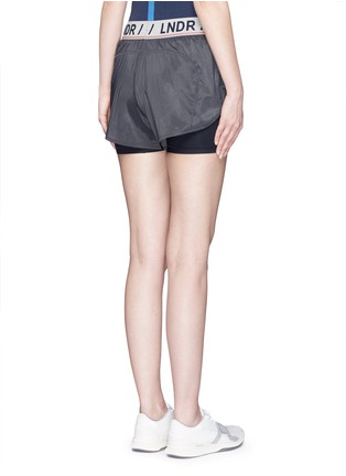 Back View - Click To Enlarge - LNDR - 'Luna' double layer running shorts