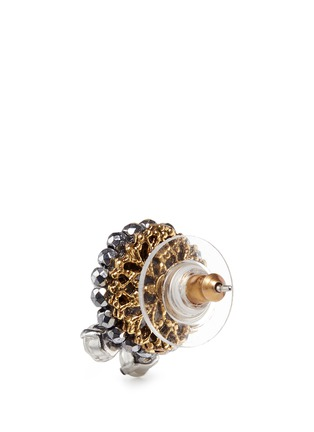 Detail View - Click To Enlarge - Erickson Beamon - 'Swan Lake' 24k gold plated Swarovski crystal stud earrings