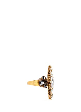 Figure View - Click To Enlarge - Erickson Beamon - 'Swan Lake' Swarovski crystal cocktail ring