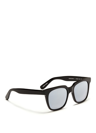 Figure View - Click To Enlarge - Ross & Brown - 'Portofino' acetate square sunglasses