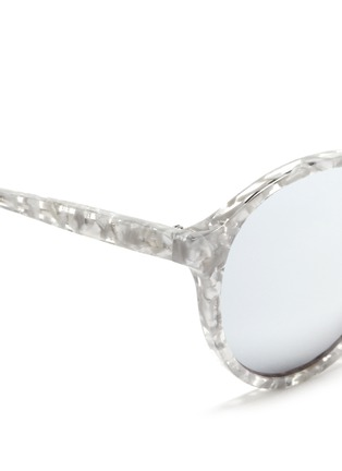 Detail View - Click To Enlarge - Ross & Brown - 'Capri' shell effect acetate mirror sunglasses
