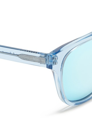 Detail View - Click To Enlarge - ROSS & BROWN - 'Roma' keyhole bridge acetate sunglasses