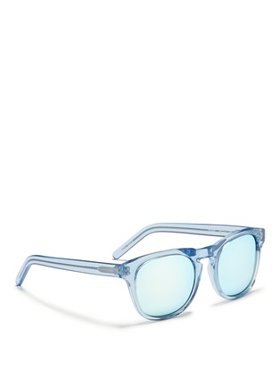 Figure View - Click To Enlarge - Ross & Brown - 'Roma' keyhole bridge acetate sunglasses