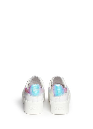 Back View - Click To Enlarge - ASH - 'Cult' holographic trim leather platform sneakers