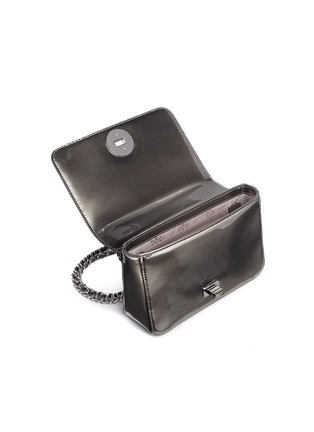 Detail View - Click To Enlarge - Tory Burch - 'Mercer' adjustable metallic leather shoulder bag