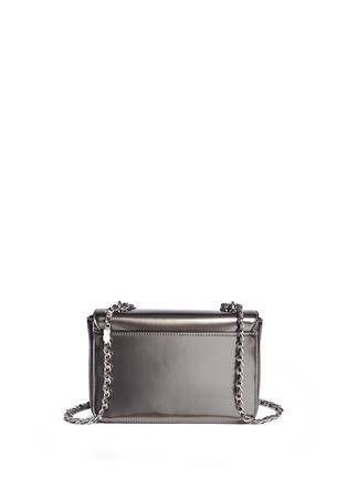 Back View - Click To Enlarge - Tory Burch - 'Mercer' adjustable metallic leather shoulder bag
